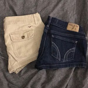 Lot of 2 Hollister low rise shorts size 5